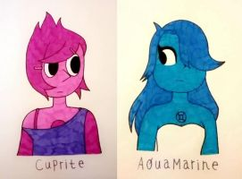 Cuprite and Aquamarine by NiteOwlX