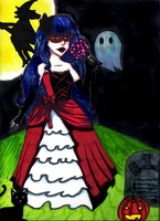 . masquerade + halloween . by blueandpurple-rock