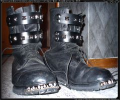 Homemade Goth Boots by TehZee