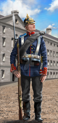 Prussian infantryman - 1870-1871 by ManuLaCanette