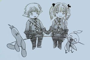 Lalafell Couple by Quartknee