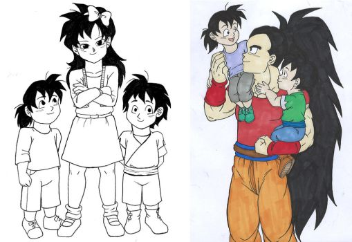 Raditz's children by IsabellaFaleno