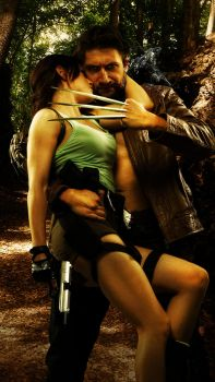Wolverine and Lara 002 by Howlettjames1981