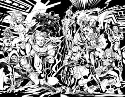 10 Super Heroes of the Standard Comics Universe by roygbiv666