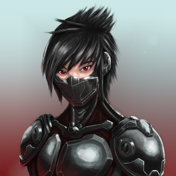 Shadowrun OC - Cyber Ninja Light with mask by Light255