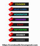 Label ranks by IconSkoulikiGraphics