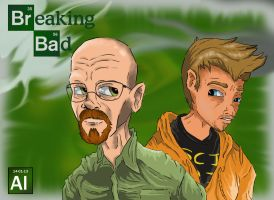 Mr.White and Pinkman by givemesomebrohoof