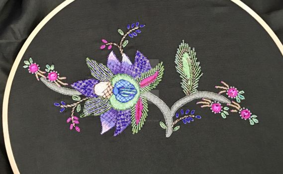 Embroidery with beads and metallics by MySpecialist
