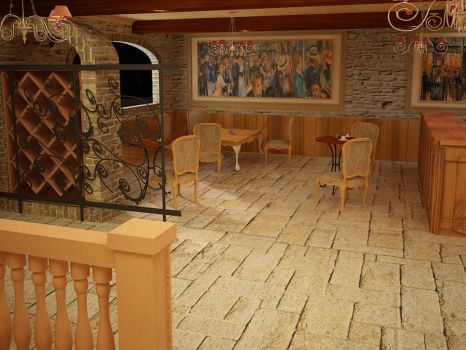 French Style coffee shop 07 by Linaerlight