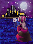 Little Mermaid Watching The City At Night by CelestialPearl