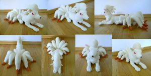 Ninetales Plushie by PeaceFluffles