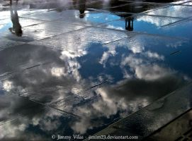 Clouds on water... 2 by jimmyvilas