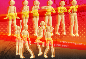 .s-pace-requiem's pose pack. .dl. by h-oshizora-requiem