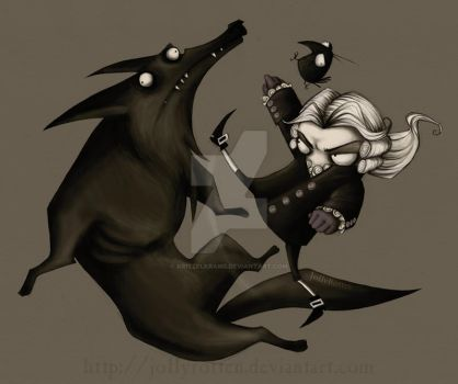 Fighting The Vicious Black Dog by Kritzelkrams