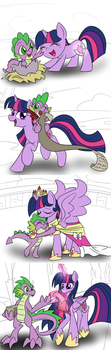 Twilight and Spike by geraritydevillefort