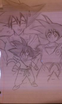 generations of goku by hannieo