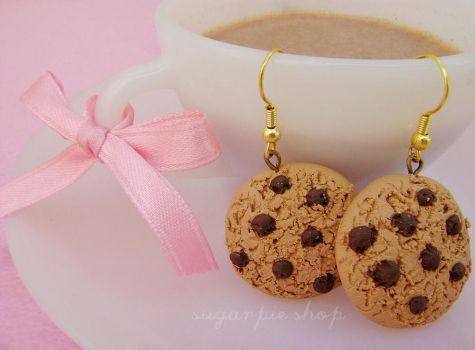 CHOCO COOKIE EARRINGS by OrdinaryThing
