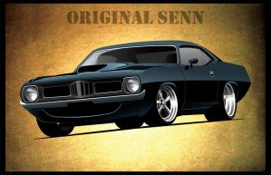 Black Cuda The Original Senn by cityofthesouth