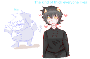 the kind of thick everyone likes vs me by Berllinn