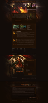 World of Warcraft Website by DataBase379