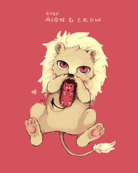 SB69 Baby Aion and Crow by sawa-rint