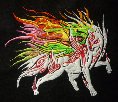 Shiranui Okami Embroidery by goiku