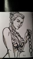 Slave Leia Sketch by darlinginc