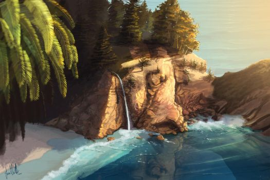 McWay Falls by chateaugrief