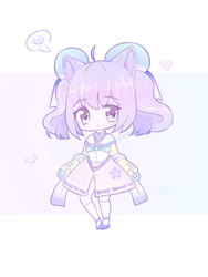 [CLOSED] $1sb ADOPT AUCTION - Violet Sakura by NicoleNinichan233