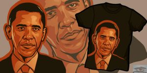 Obama T-shirt by Cloxboy