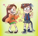 Gravity Falls - Mabel and Dipper 02 by sanna-mania