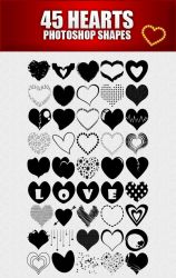 Hearts Shapes for Photoshop by sarthony