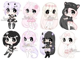 Chibi Mix Adoptables 4  :: CLOSED :: by Hunibi