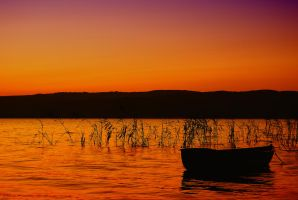 sapanca sunset by oeminler