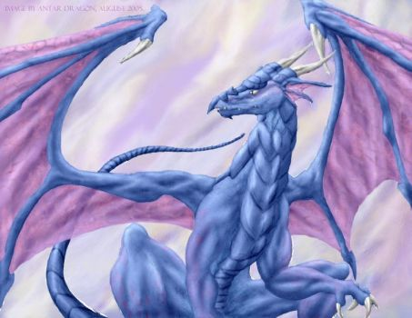 Blue Dragon Digital Colour by Antar-Dragon