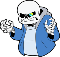 Angry Sans by Whimsy-Floof