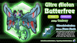 Comm - Ultra Alolan Butterfree by ShadowLifeman