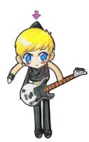 Mike Dirnt Paperchild by PrincessBlackRabbit