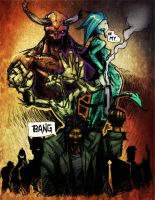 Monsters in the hood by felle2thou