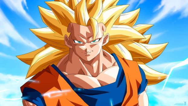 SSj3 Goku Animation :Preview Frame: by moxie2D