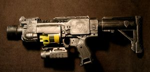Diesel Punk NERF Barricade by JohnsonArmsProps