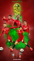 Portugal World Cup Phone Wallpaper 2018 by GraphicSamHD