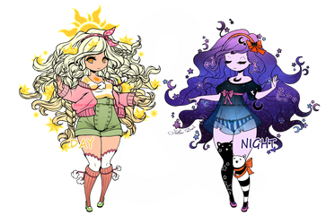 [CLOSED] DAY and NIGHT ADOPT by Yellow-adoptables