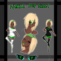 Nakira Ref Sheet by Choco3va