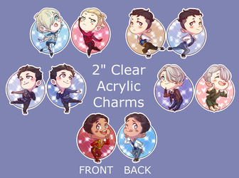 Yuri!!! on Ice charms by xmoonlitxdreamx