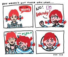 Wendy's New Logo by gaudog