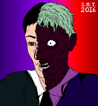 Harvey Dent : Two-Face by TheAmazingMrSMY