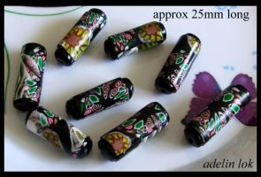 Polymer Clay Beads 124 by snowskin