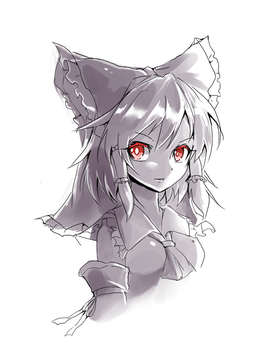 Reimu Sketch by ClearEchoes