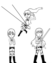 Attack on Working! (Crossover) by Yoroko666